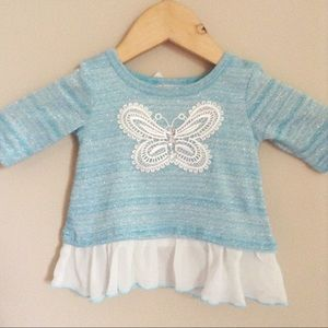 Sparkly Butterfly Top